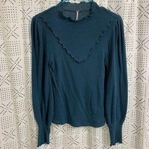 Free People Mock Turtleneck Sweater Size Small